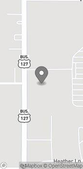Map of 7342 N Alger Rd in Alma