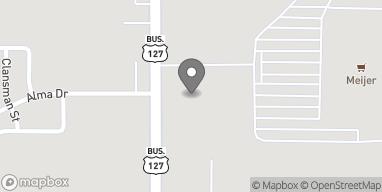 Mapa de 7342 N Alger Rd en Alma