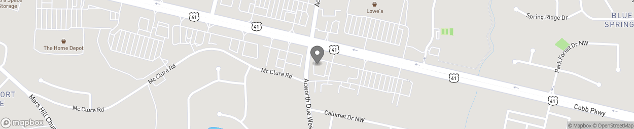 Map of 3221 Cobb Parkway NW in Kennesaw