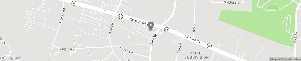 Map of 2191 Fairburn Road--Hwy 92 in Douglasville