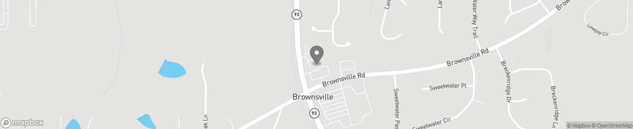 Map of 6395 Hiram Douglasville Hwy in Powder Springs