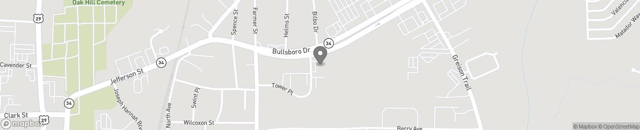 Map of 41 Bullsboro Road in Newnan