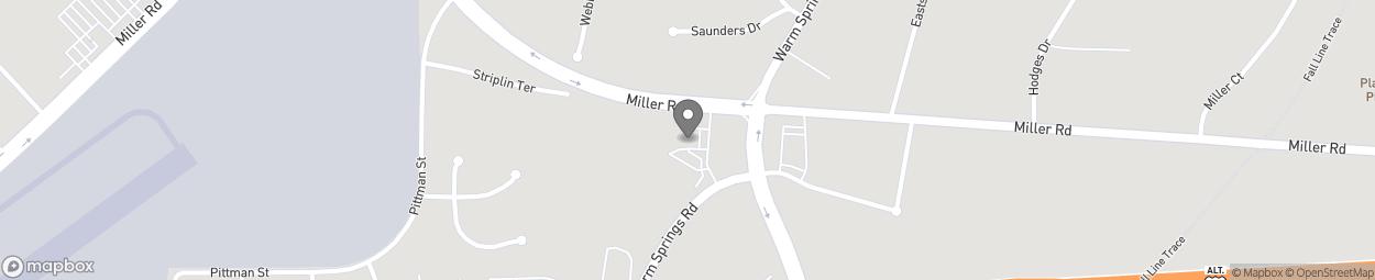 Map of 4240 Miller Road in Columbus