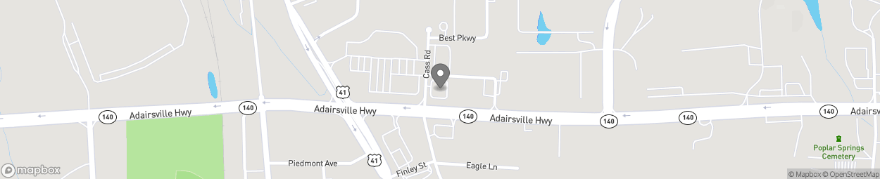 Map of 20 Eagle Parkway in Adairsville