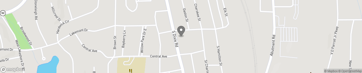 Map of 1005 South Thornton Avenue in Dalton