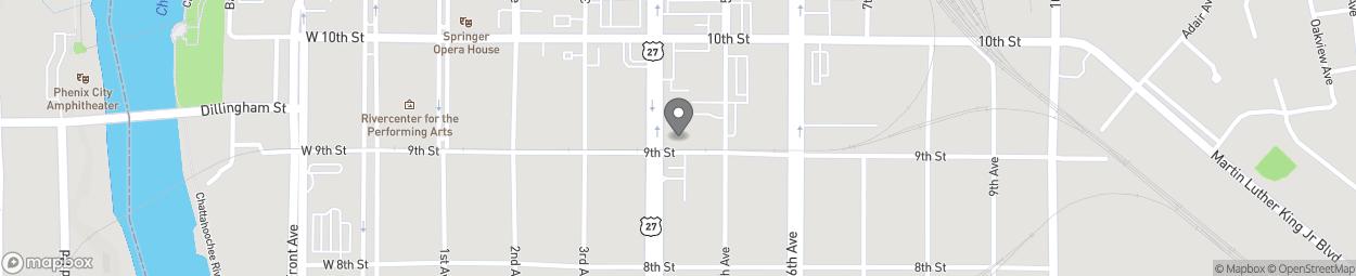 Map of 900 Veterans Parkway in Columbus