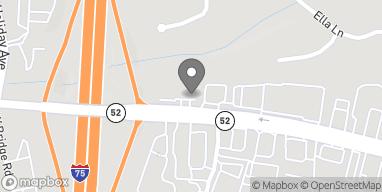 Mapa de 1318 West Walnut Ave en Dalton
