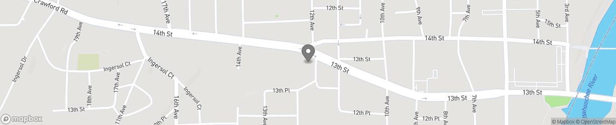 Map of 1201 14th Street in Phenix City