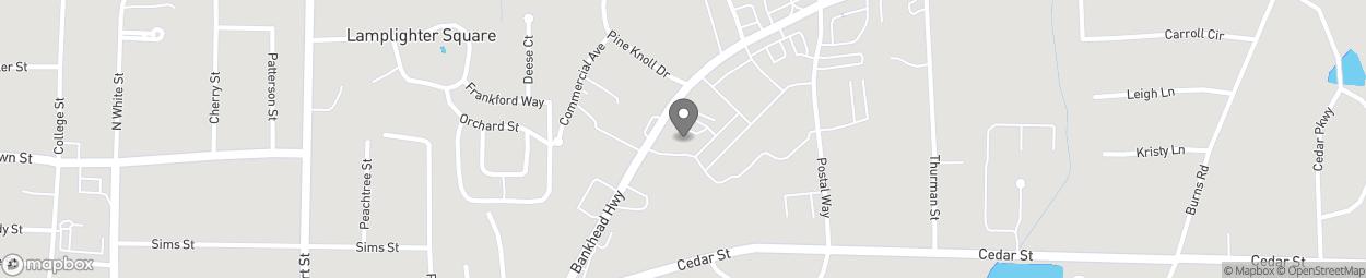 Map of 417 Bankhead Hwy in Carrollton