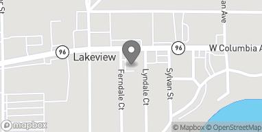 Map of 589 Columbia Avenue W in Battle Creek