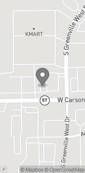 Map of 1712 W Washington St in Greenville