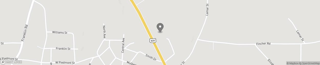 Map of 3974 Highway 431 in Roanoke