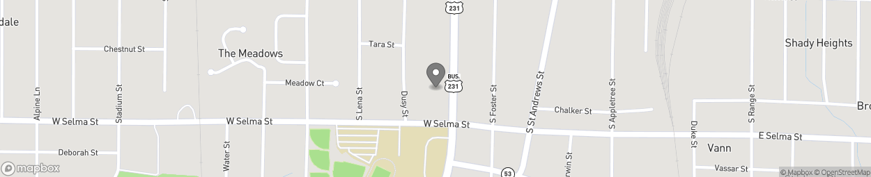 Map of 1024 South Oates Street in Dothan
