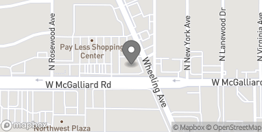 Map of 1414 W McGalliard Rd in Muncie