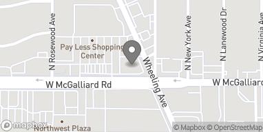 Mapa de 1414 W McGalliard Rd en Muncie