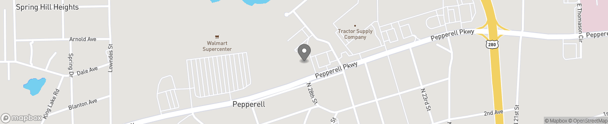 Map of 2730 Pepperell Parkway in Opelika