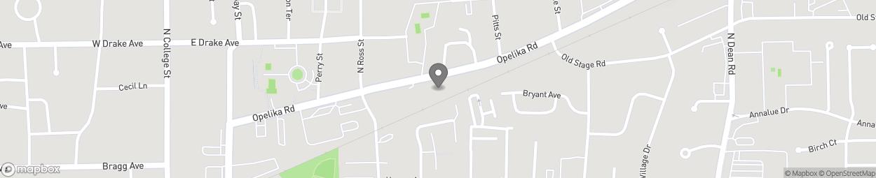Map of 446 Opelika Road in Auburn