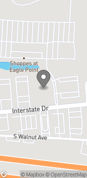 Map of 1255 Interstate Drive in Cookeville