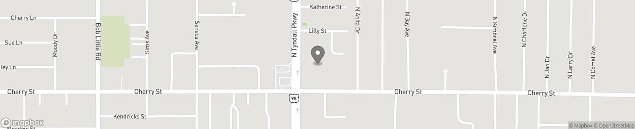 Map of 106 N Tyndall Parkway in Callaway