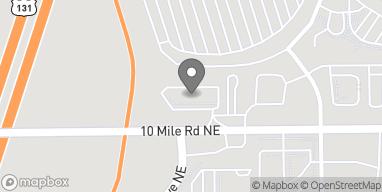 Map of 2745 10 Mile Road NE in Rockford
