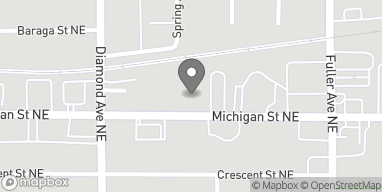 Map of 1045 Michigan Street NE in Grand Rapids