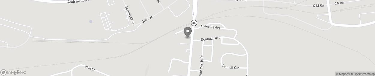 Map of 969 N Daleville Avenue in Daleville