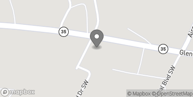 Mapa de 1614 Glenn Blvd SW en Fort Payne