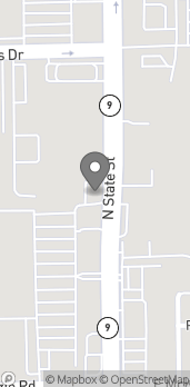 Map of 1346 N State St in Greenfield