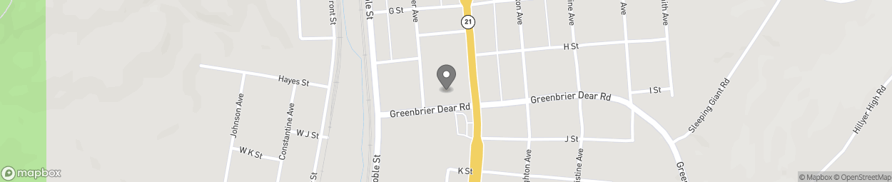 Map of 105 Greenbrier-Dear Road in Anniston