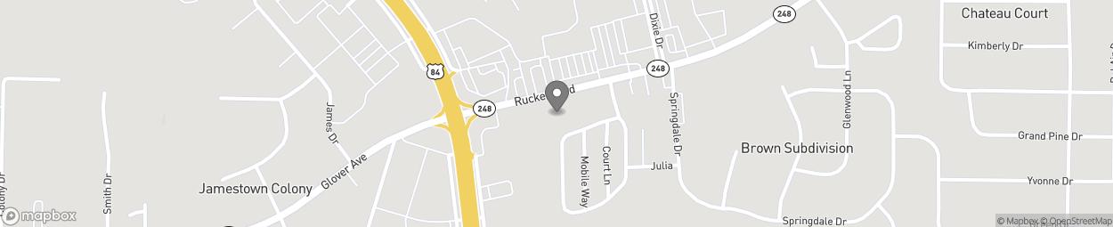 Map of 908 Rucker Blvd in Enterprise