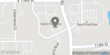 Map of 11386 Olio Road in Fishers
