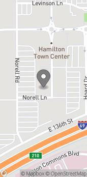 Mapa de 13901 Town Center Blvd en Noblesville