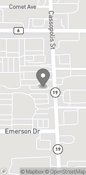 Map of 2707 Cassopolis Street in Elkhart