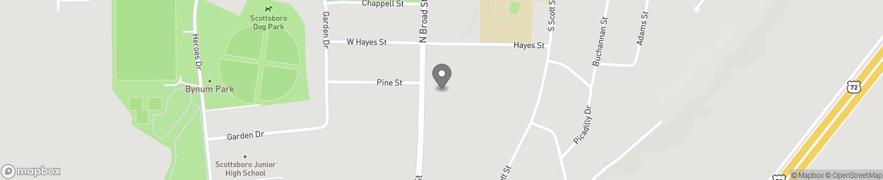 Map of 1301 South Broad St in Scottsboro