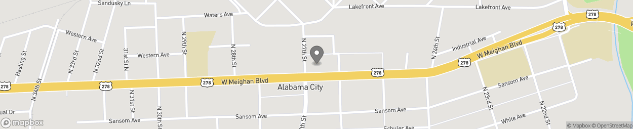 Map of 2639 W Meighan Blvd in Gadsden