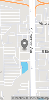 Map of 4586 S Emerson Ave in Indianapolis