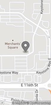 Map of 2174 East 116th Street in Carmel