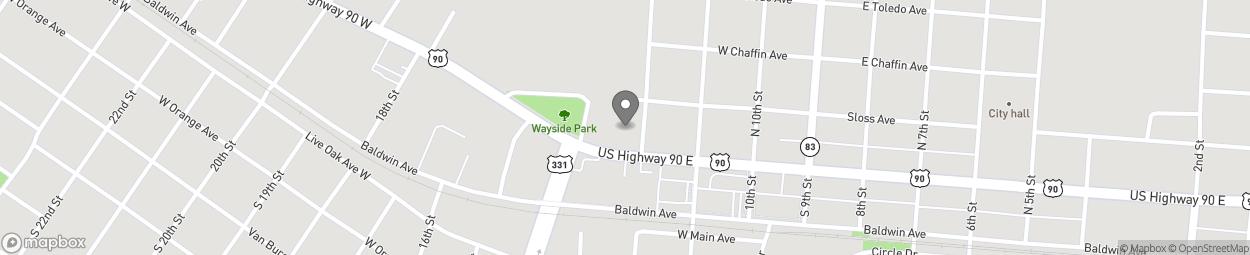 Map of 38 E Nelson Avenue in Defuniak Springs