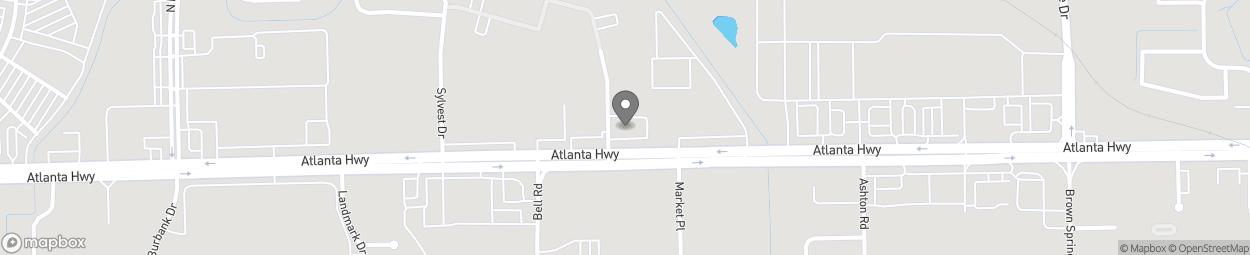 Map of 6301 Atlanta Highway in Montgomery