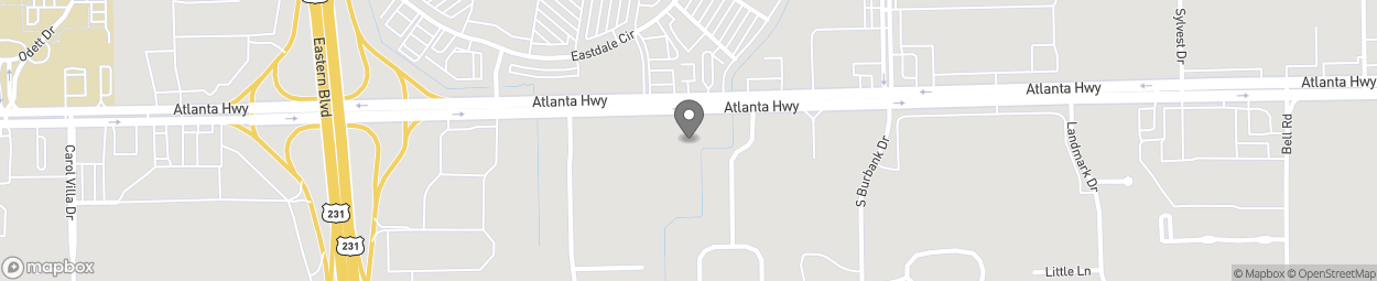 Map of 5700 Atlanta Highway in Montgomery