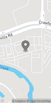Map of 6345 Crawfordsville Rd in Indianapolis