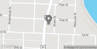 Mapa de 85 Cypress Street en Manistee
