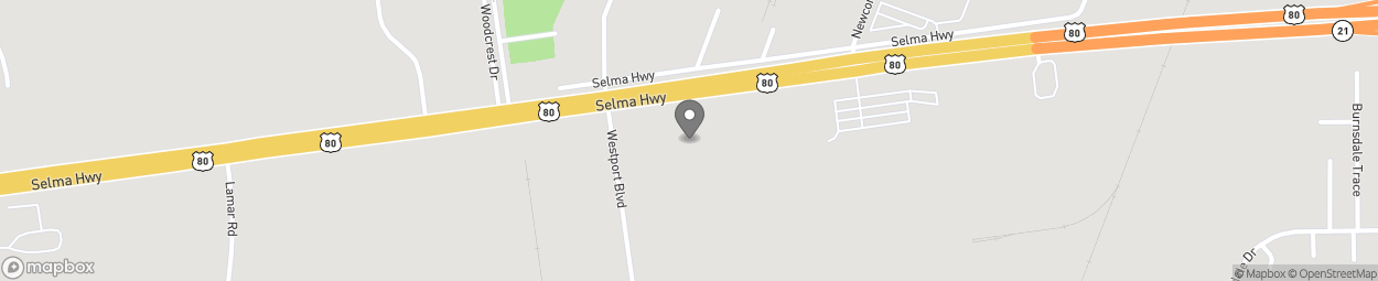 Map of 3065 Selma Highway in Montgomery