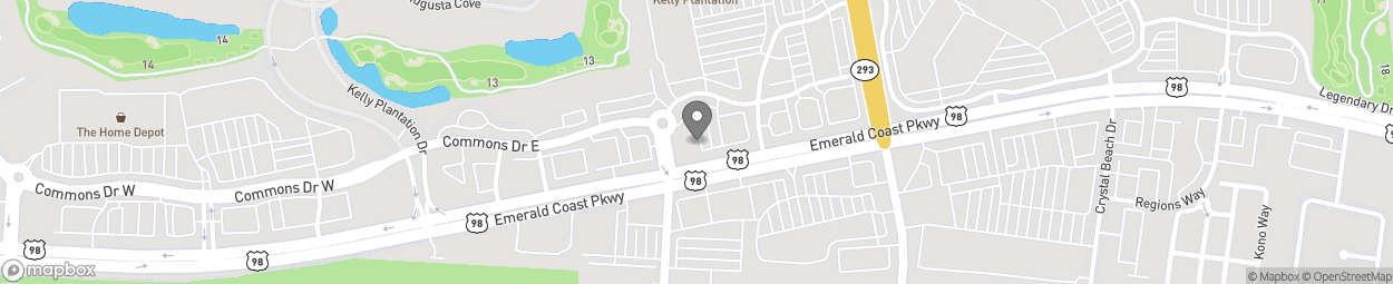 Map of 34883 Emerald Coast Pkwy in Destin