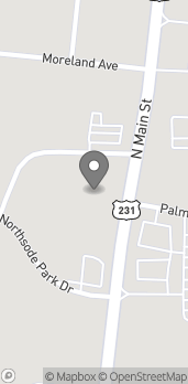Map of 1735 N Main Street in Shelbyville