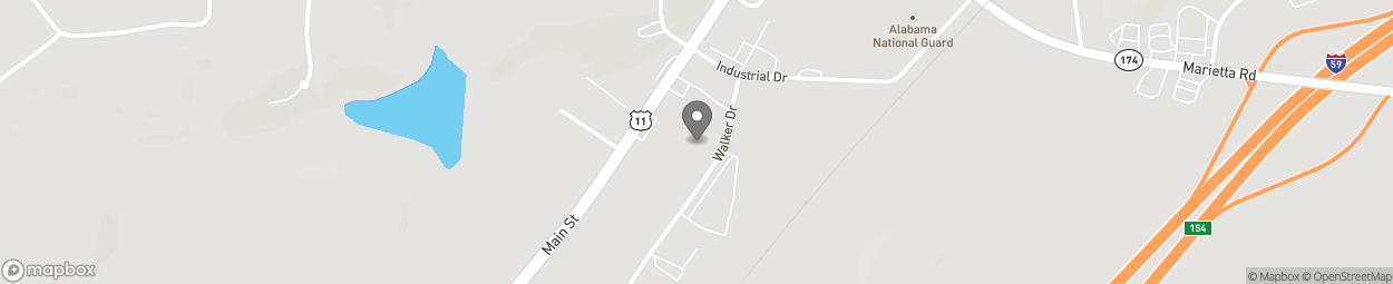 Map of 5790 Highway 11 in Springville
