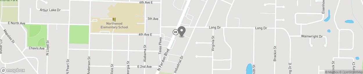 Map of 689 North Ferdon Blvd in Crestview