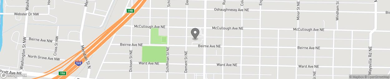 Map of 501 Andrew Jackson Way in Huntsville