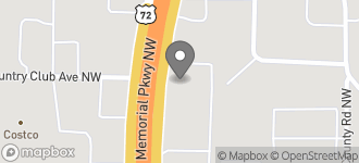 Map of 1220 Memorial Pkwy Nw in Huntsville