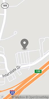 Mapa de 131 Interstate Drive en Greenville